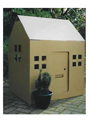 Build Playhouse Cardboard Design DIY PDF Wall Shelf Construction Plans